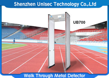 الصين 6-24 zones walk through metal detector used in hotel, metro station security scanner door frame metal detector المزود